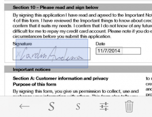 With ScanWritr you can also sign documents.